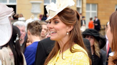 Kate Middleton Finally Looks Pregnant in Emilia Wickstead Dress | StyleCaster