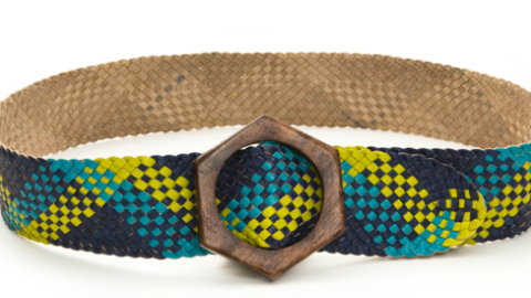 Want: A Neon Woven Leather Belt | StyleCaster