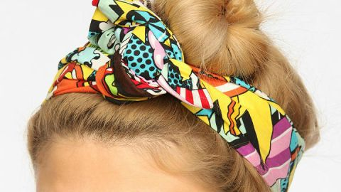 Want: A Unique Turband in a Bold Pop Art Print | StyleCaster