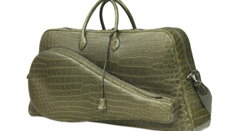 Stuff We Love: Hermès Celebrates Lacoste's 80th Anniversary With a Crocodile Tennis Bag | StyleCaster
