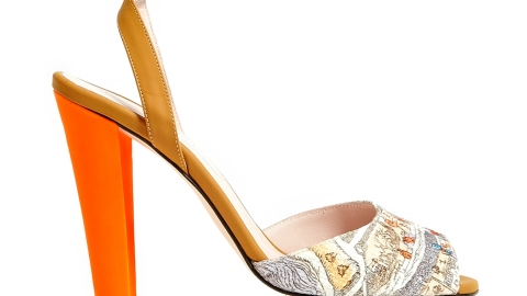 Want: Carven's (Half Off!) Map-Print Sandals | StyleCaster
