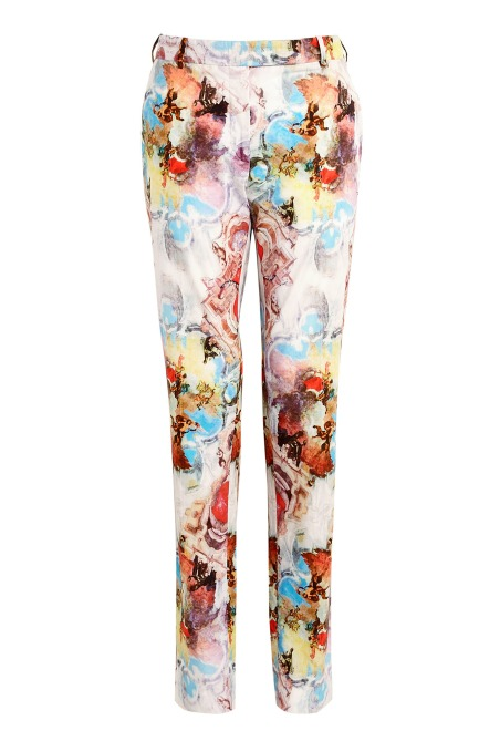 carven floral trousers