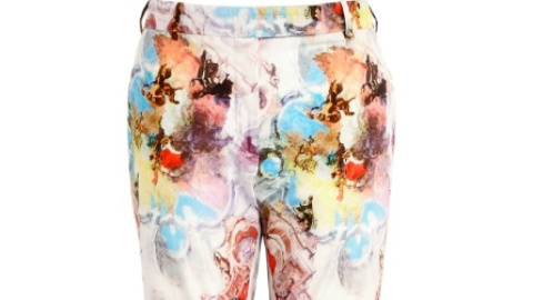 Want: A Pair Of Carven Watercolor Trousers (For Half Off!) | StyleCaster