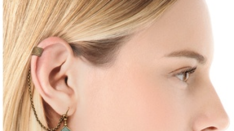 Want: A Boho-Meets-Punk Amazonite Ear Cuff | StyleCaster