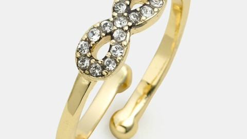Want: A Dainty Gold Infinity Ring Worth Stacking | StyleCaster