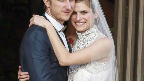 Actress Lake Bell Tied the Knot in a Dramatic Marchesa Gown: See it Here | StyleCaster