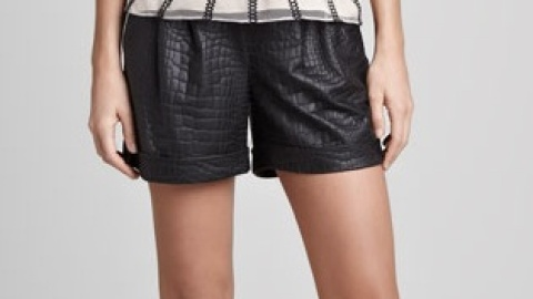 Want: A Pair Of Slouchy Faux Leather Embossed Shorts   StyleCaster