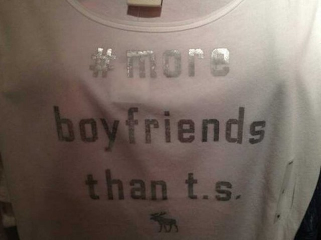 taylor swift shirt abercrombie 640x479 Taylor Swift Fans Forced Abercrombie & Fitch To Stop Selling Silly Graphic Tee