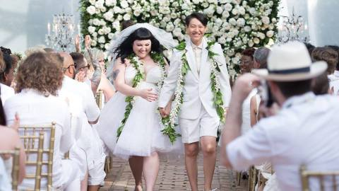 Gossip Singer Beth Ditto Marries Longtime Girlfriend in Jean Paul Gaultier Dress and No Shoes   StyleCaster