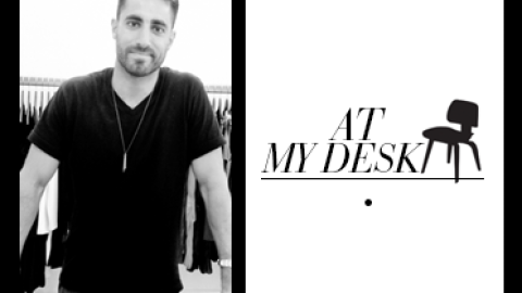 At My Desk: Fashion Entrepreneur David Helwani Is Knee-Deep in Fabric Swatches and Samples | StyleCaster