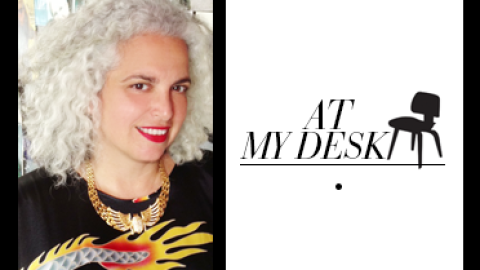 At My Desk: Jewelry Designer Leeora Catalan Keeps a Stone Chart and Her Cat Nearby | StyleCaster
