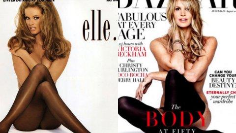 Elle Macpherson Recreates Her 1994 <em>Playboy</em> Cover for <em>Harper's Bazaar</em> | StyleCaster