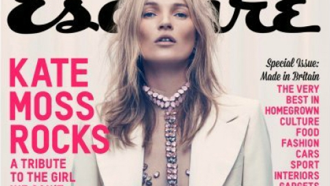 Kate Moss Poses In A Sheer Leotard For <em>Esquire UK</em> | StyleCaster
