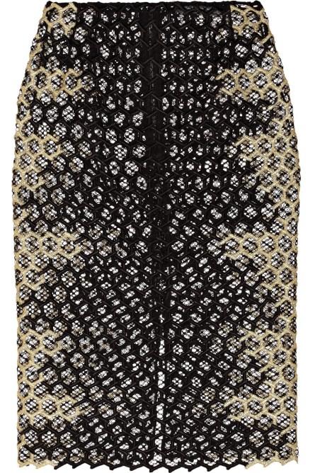 mcqueen honeycomb skirt