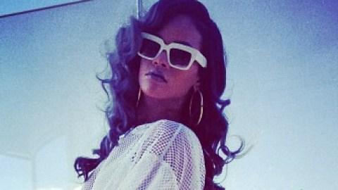 Rihanna Wears Mesh Romper Designed By Her Costume Designer Adam Selman | StyleCaster