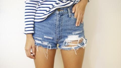 How To Make Your Own Distressed Denim Shorts | StyleCaster