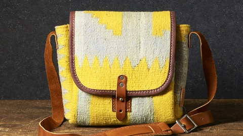 Want: A Colorful Mini Messenger Bag Made From An Antique Rug | StyleCaster