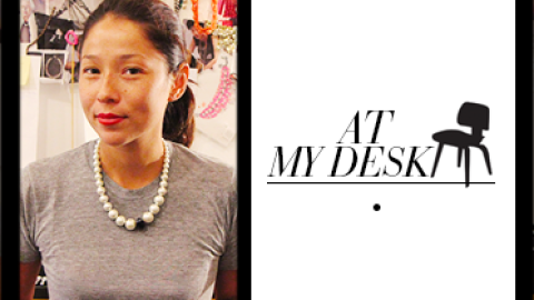 At My Desk: Jewelry Designer Venessa Arizaga Surrounds Herself with Doughnut Charms and Plenty of Thread   StyleCaster