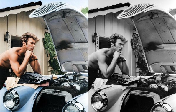 colorized history clint eastwood See What 12 Iconic Sex Symbols Look Like in Color Photos
