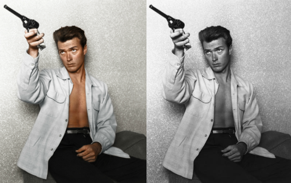colorized history clint eastwood2 See What 12 Iconic Sex Symbols Look Like in Color Photos