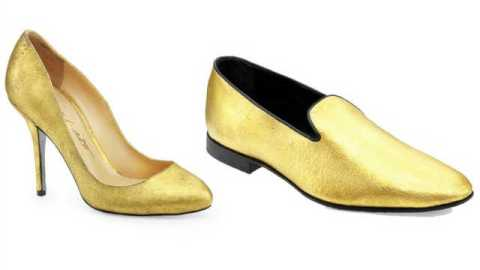 Stuff We Love: Now You Can Wear 24-Carat Gold Shoes | StyleCaster