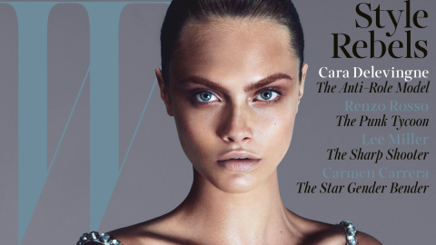Cara Delevingne Talks About Rihanna, Kate Moss, More in W | StyleCaster