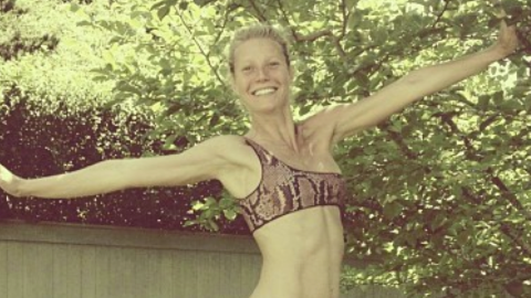 Gwyneth Paltrow Poses Without Makeup in Sexy Bikini at 40   StyleCaster