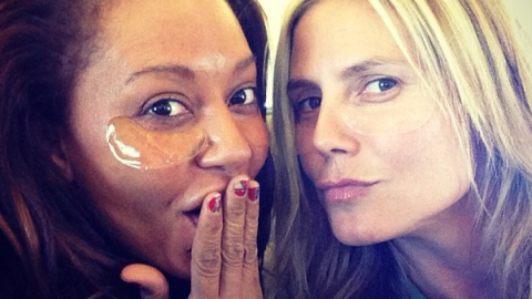 Heidi Klum Poses With No Makeup Alongside Former Spice Girl Mel B | StyleCaster