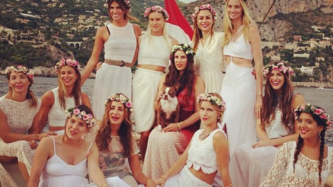 Tatiana Santo Domingo Throws Bohemian-Themed Yacht Party to Kick Off Her Wedding Weekend | StyleCaster