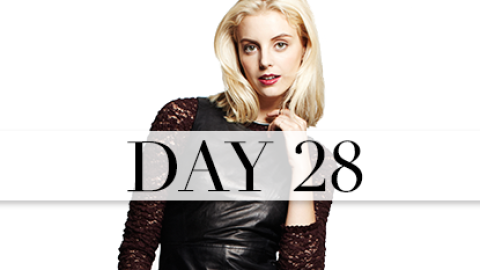 Day 28: Leather and Lace | StyleCaster