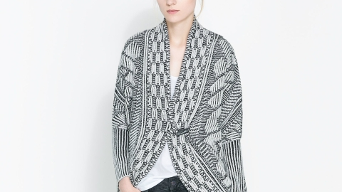 Want: A Wrap-Around Cardigan That Dazzles | StyleCaster