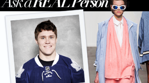 Ask a Real Person: A Pro Hockey Player Weighs in on Karen Walker Spring 2014   StyleCaster