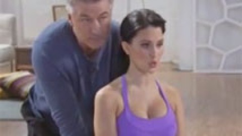 Well This is Embarrassing: Alec Baldwin Stars in Prenatal Yoga Video with Wife Hilaria | StyleCaster