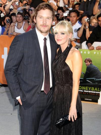 chris pratt anna faris 25 Surprise Celebrity Weddings Nobody Saw Coming