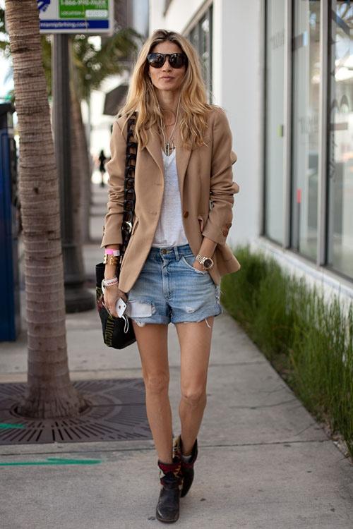 denim cutoff shorts street style fashion hipster