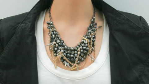 DIY Tutorial: How To Make This Badass Punk Statement Necklace | StyleCaster