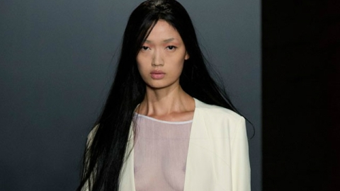 NSFW Fashion Week Trend: Sheer Shirts With No Bra | StyleCaster
