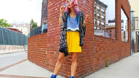 Chloe Norgaard Talks New York Style (And Her Trademark Colored Hair) | StyleCaster