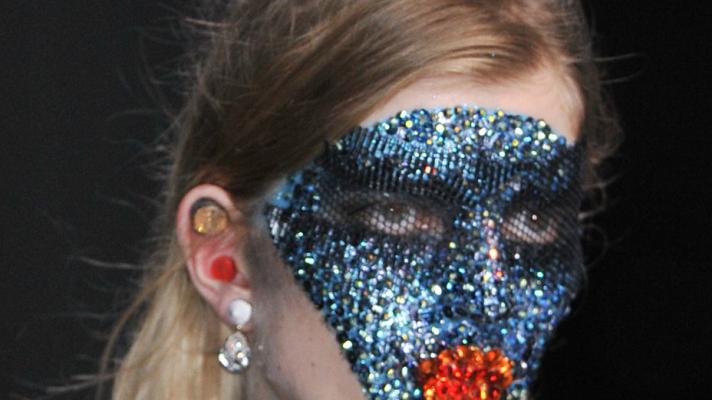 Up Close and Personal: The Amazing Swarovski Masks at Givenchy Spring 2014