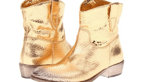 Want: A Pair of Gold Snakeskin Cowboy Boots | StyleCaster