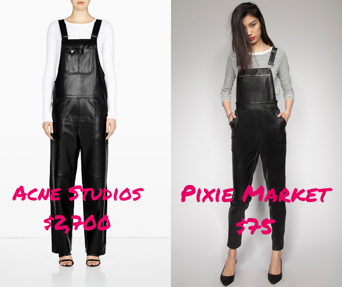 leatheroveralls Acnes $3,000 Leather Overalls Are Actually Selling Out; Get the Look for Less