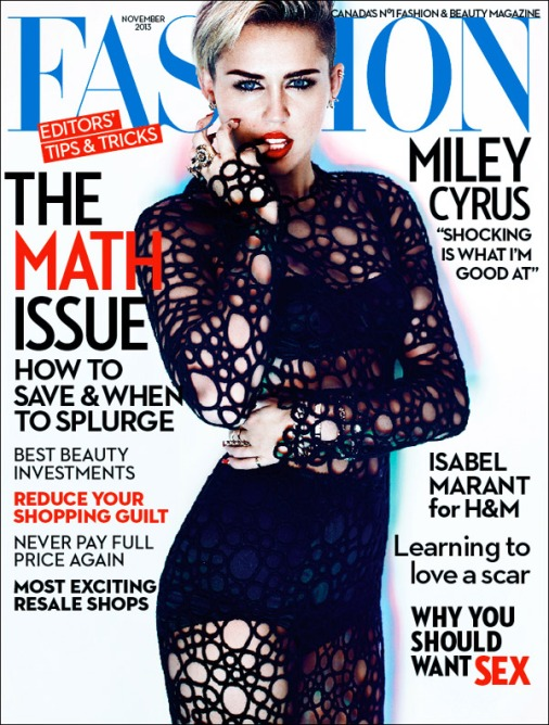Miley Cyrus Fashion Mag Cover