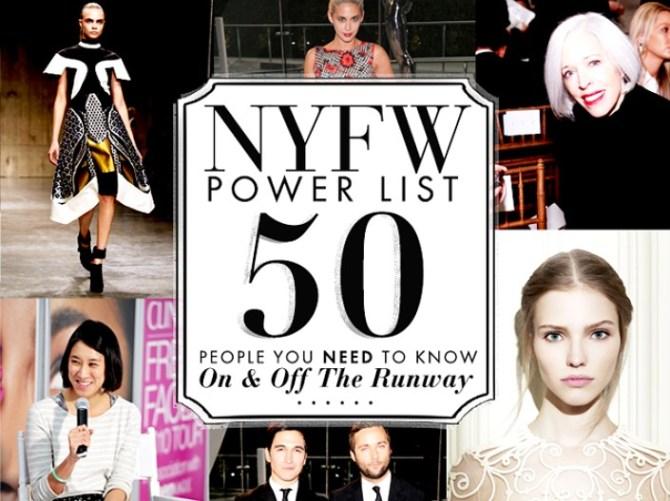 NYFW Power List