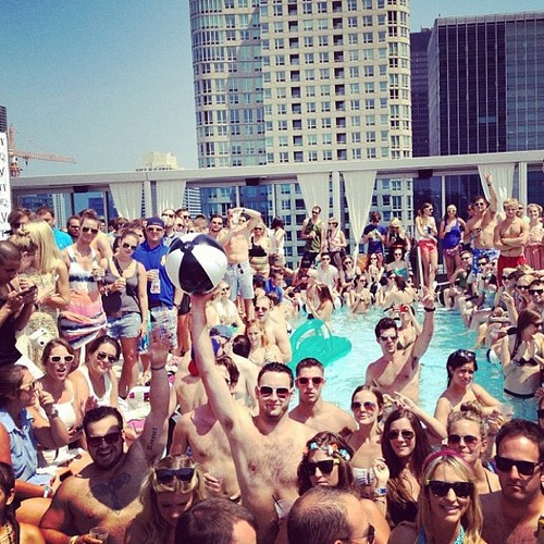 a las vegas pool party posted to instagram