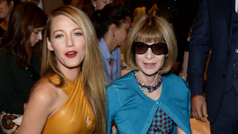 Front Row BFFs: Blake Lively and Anna Wintour Look Amazing at the Gucci Spring 2014 Show | StyleCaster