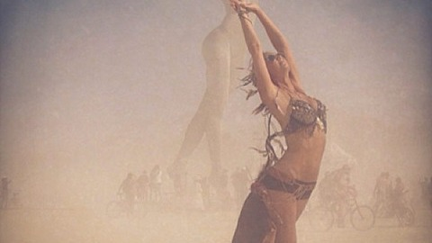Stacy Keibler Wears A Super-Skimpy Outfit at Burning Man (Yes, Burning Man) | StyleCaster