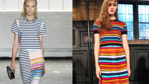 Bold Colored Stripes at NYFW: Do You Prefer Cynthia Rowley's or Tanya Taylor's? | StyleCaster