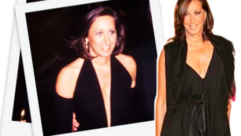 #ThrowbackThursday: See A Young Donna Karan Rock a Plunging Gown in 1985 | StyleCaster