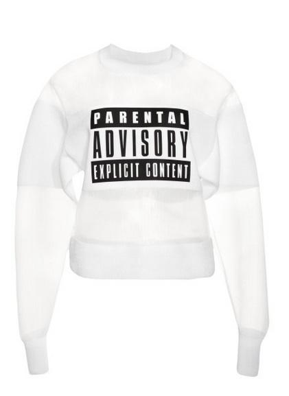 wang2 Alexander Wangs Parental Advisory Sweatshirt Costs Almost $1,000