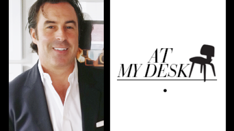 At My Desk: Crown Group Hospitality's Founder Has Three Computer Screens and Christopher Walken-Inspired Art | StyleCaster